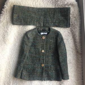 SALE⭐️⭐️⭐️ MaxMara Tweed Jacket and Scarf Set